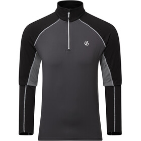 Dare 2b Interfused II Camiseta Core Stretch Hombre, aluminium grey/ebony grey/black